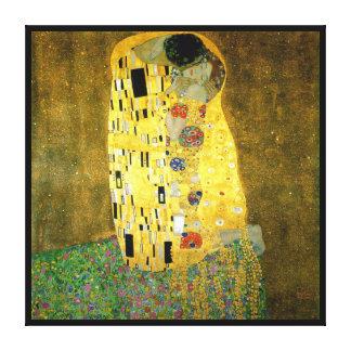 Impressão Em Canvas O ~ Gustavo Klimt do beijo