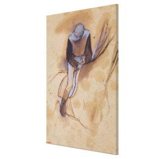 Impressão Em Canvas O jóquei de Edgar Degas | dobrou a posição