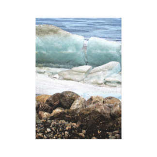Impressão Em Canvas O lago North Dakota devil azul do gelo