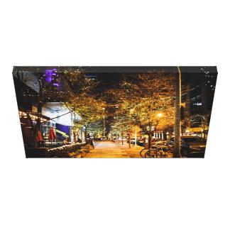 Impressão Em Canvas ò Luzes do centro da cidade da rua