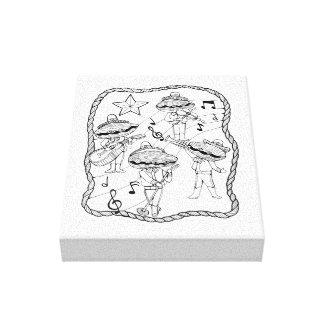Impressão Em Canvas O Mariachi da ostra une a linha design da arte