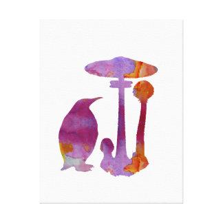 Impressão Em Canvas O pinguim e o cogumelo