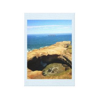 Impressão Em Canvas O Punchbowl do diabo & a rocha da lontra
