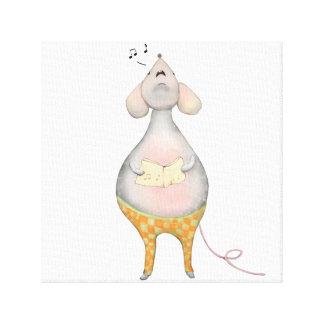 Impressão Em Canvas O rato pequeno Freddy canta