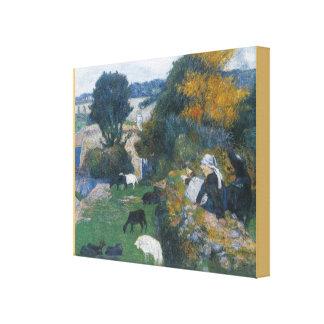 Impressão Em Canvas O shepherdess bretão por Paul Gauguin