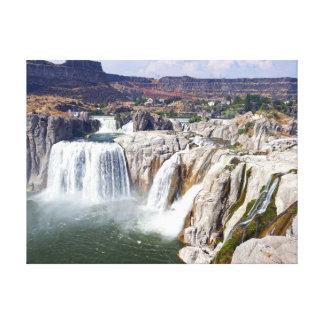 Impressão Em Canvas O Shoshone cai no rio Snake, Idaho
