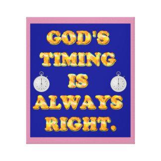Impressão Em Canvas O sincronismo do deus é sempre direito