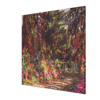 Impressão Em Canvas O trajeto do jardim em Giverny