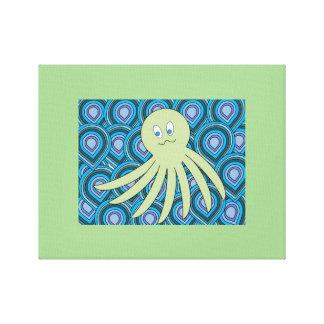 Impressão Em Canvas octo verde em um mar de roda do azul e do verde