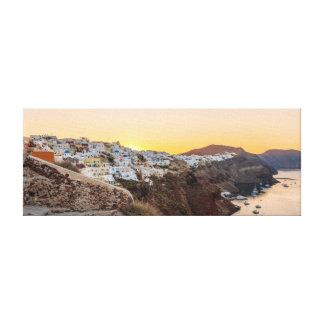 Impressão Em Canvas Oia, nascer do sol de Santorini