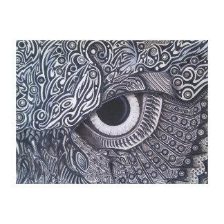 Impressão Em Canvas Olho tribal nunca terminado da coruja