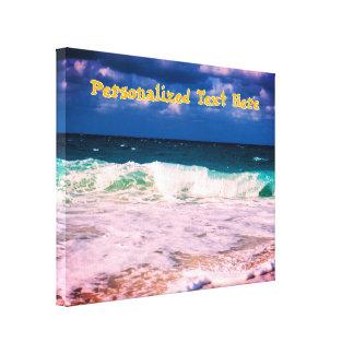 Impressão Em Canvas Ondas de oceano