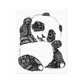 Impressão Em Canvas Ondulação da panda do bebê