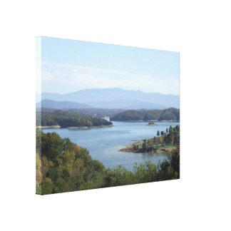 Impressão Em Canvas Opinião da beira do lago