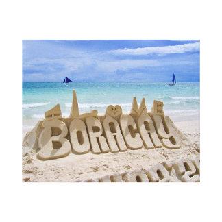 Impressão Em Canvas Opinião de Boracay, de Filipinas, de praia & de