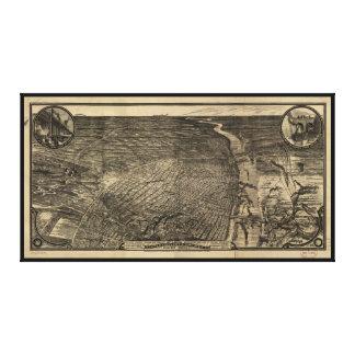 Impressão Em Canvas Opinião de olho de pássaro de St Louis, Missouri