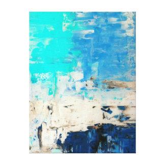 """Impressão Em Canvas """"Oposto"""" à arte abstracta de turquesa"""