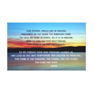 Impressão Em Canvas Oração do senhor