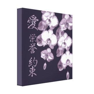 Impressão Em Canvas Orquídeas japonesas