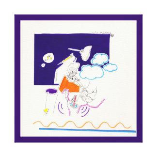 Impressão Em Canvas Os desenhos 11 da noite & da sesta olhou sua palma