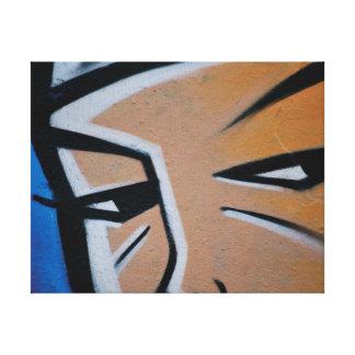 Impressão Em Canvas Os grafites na moda abstratos fecham-se acima da