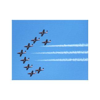 Impressão Em Canvas Os Snowbirds canadenses voam