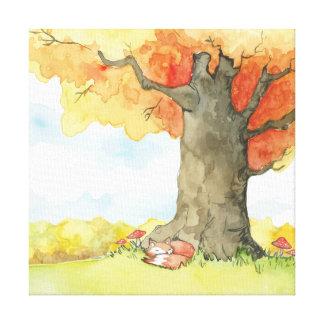 Impressão Em Canvas Outono [raposa]