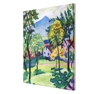 Impressão Em Canvas Paisagem August Macke de Tegernsee do vintage