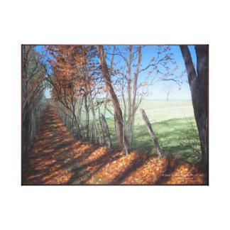 """Impressão Em Canvas Paisagem das belas artes da """"estrada secundária"""""""