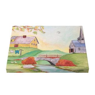 Impressão Em Canvas Paisagem Home do país