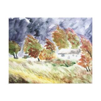 Impressão Em Canvas Paisagem Windswept da arte original do Watercolour