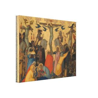 Impressão Em Canvas Paixão da pintura da crucificação do Jesus Cristo