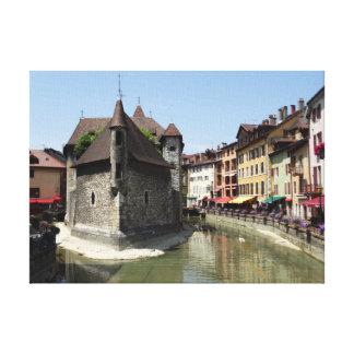 Impressão Em Canvas Palais de l'Isle em Annecy pitoresco, France