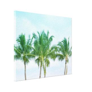 Impressão Em Canvas Palmeiras de Havaí do céu azul