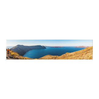 Impressão Em Canvas Panorama de Santorini Ridge