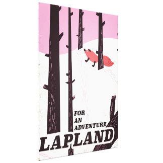 """Impressão Em Canvas """"Para poster vintage de Lapland de uma aventura"""""""