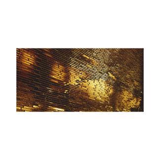Impressão Em Canvas Parede dourada