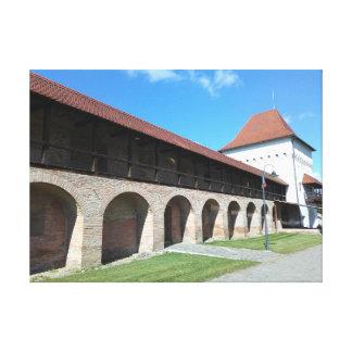 Impressão Em Canvas Parede e bastião medievais da fortaleza
