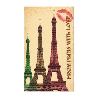 Impressão Em Canvas Paris