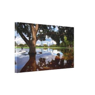 Impressão Em Canvas Parque de Zilker - skyline 3 de Austin Texas