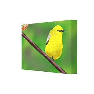 Impressão Em Canvas Pássaro amarelo