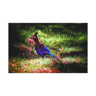 Impressão Em Canvas Pássaro azul pequeno, canvis envolvidos que pring