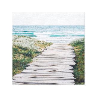 Impressão Em Canvas Passeio à beira mar na praia