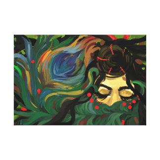Impressão Em Canvas Pavão colorido