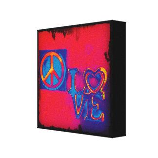 Impressão Em Canvas Paz e amor