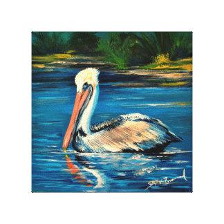 """Impressão Em Canvas Pelicano no pântano 10"""" x 10"""""""