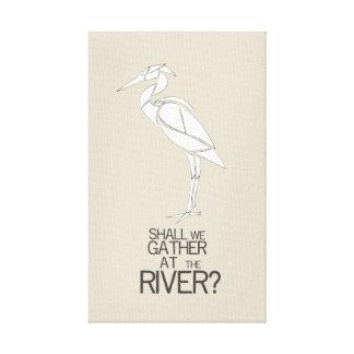 Impressão Em Canvas Pelo rio - citações do hino
