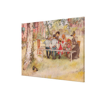 Impressão Em Canvas Pequeno almoço sob o vidoeiro grande por Carl