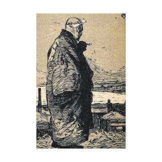 Impressão Em Canvas Pescador de Yamamoto Kanae