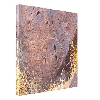 Impressão Em Canvas Petroglyph de pedra natural